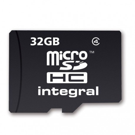 carte micro sd 32go avec adaptateur hc integral cam ra. Black Bedroom Furniture Sets. Home Design Ideas